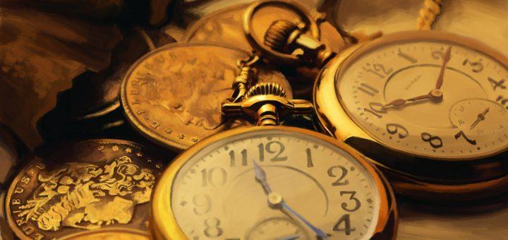Relógios que apresentam a ideia de tempo